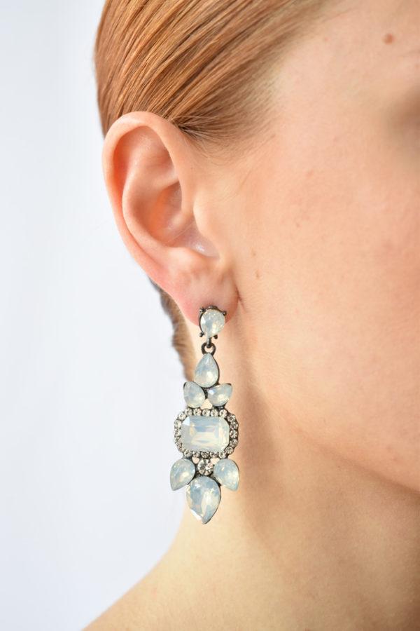 Exkluzívne náušnice s perleťovými kameňmi Moonstone