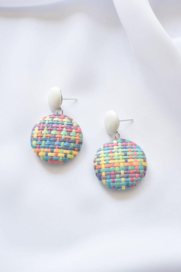 Farebné kruhové náušnice Tweed