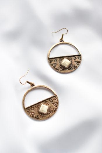 Kruhové antické náušnice Ancient