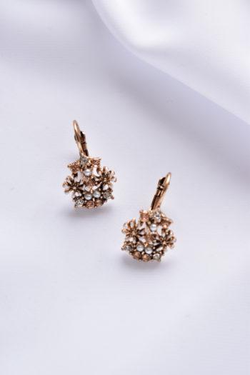 Malé kvetinové náušnice s perličkami Capri