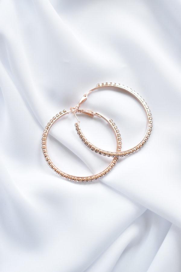 Rose gold kruhové náušnice Rossie