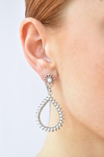 Visiace perlové náušnice Florencia