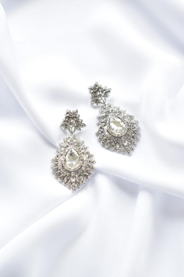 Luxusné štrasové náušnice Royal