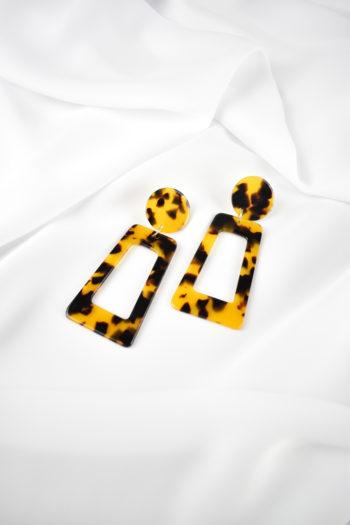 Geometrické tigrované náušnice Marbela
