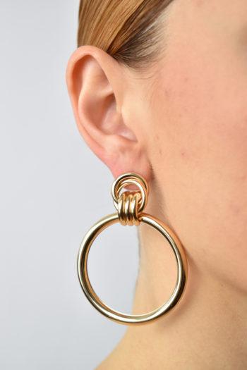 Zlaté kruhové náušnice Tara